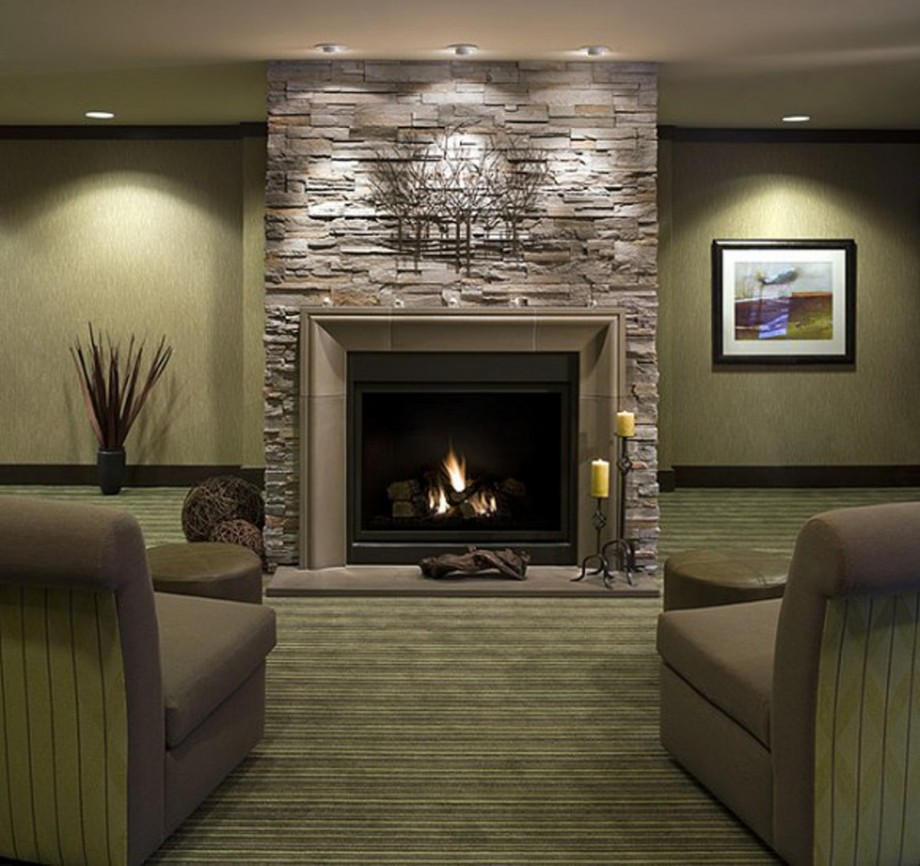 inspiring mountain stone fireside inspirations