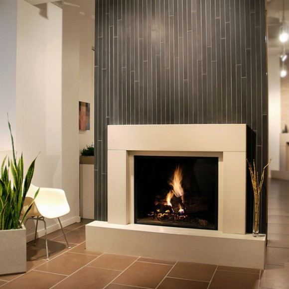 minimalist home fireplace pictures