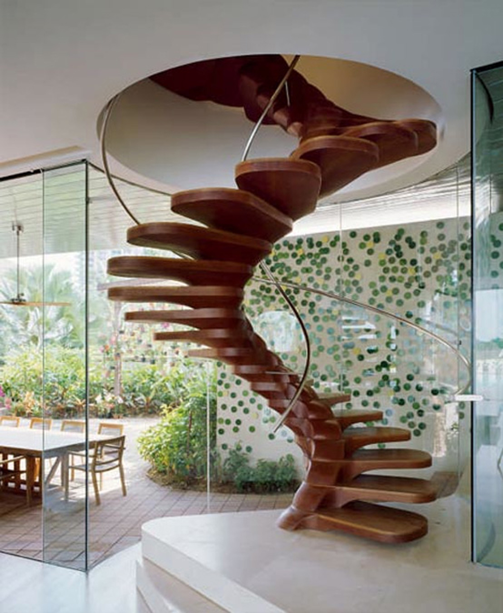 Modern wooden spiral staircase layouts - Modern interior design with spiral stairs contemporary spiral staircase design ...
