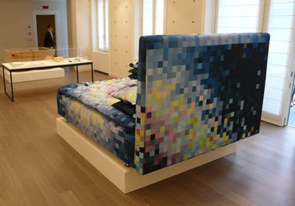 modular pixilated bed decorations