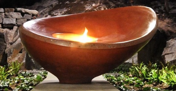 red fire bowl design ideas