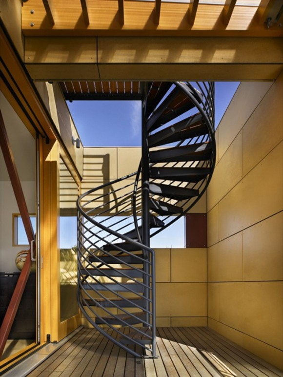 restricted outdoor staircase structures