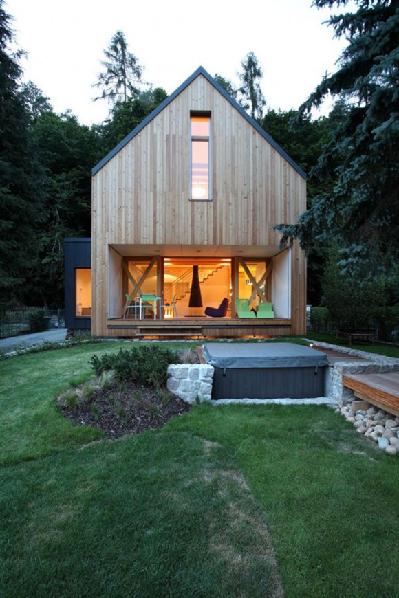 simple green wooden home pictures