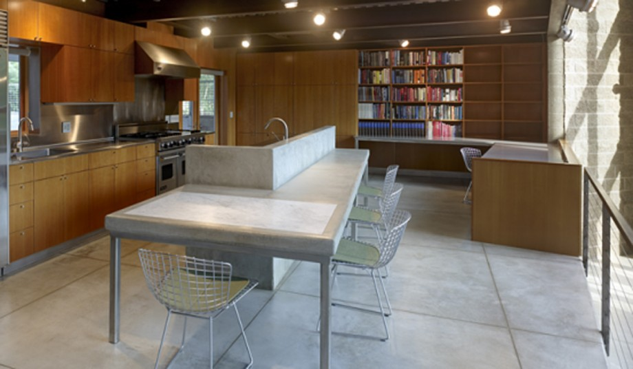 smart kitchen and dining room combination
