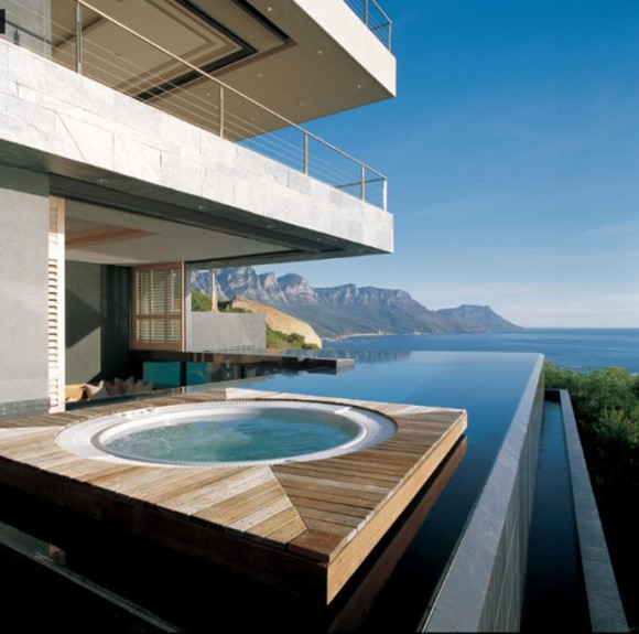 unlimited view outdoor pool sea house