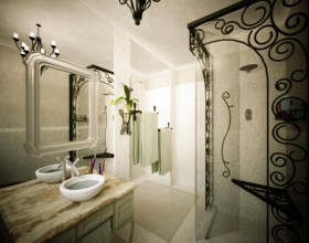 artistic bathroom appliance decor