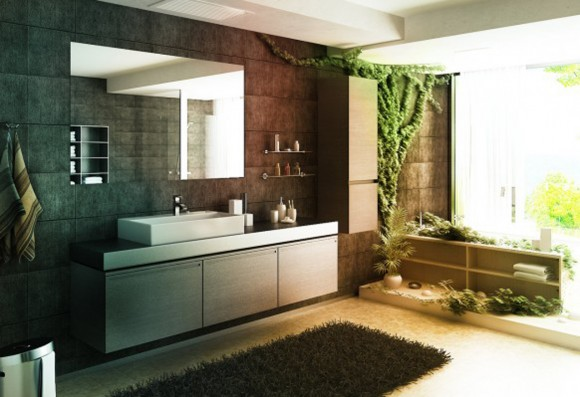 best inspiring green bathroom designs
