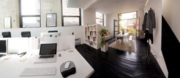 black and white office workspace inspirations