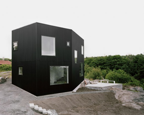 black compact home designs inspirations