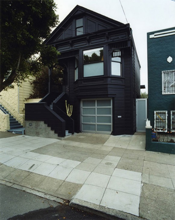 black monochrome victorian house designs