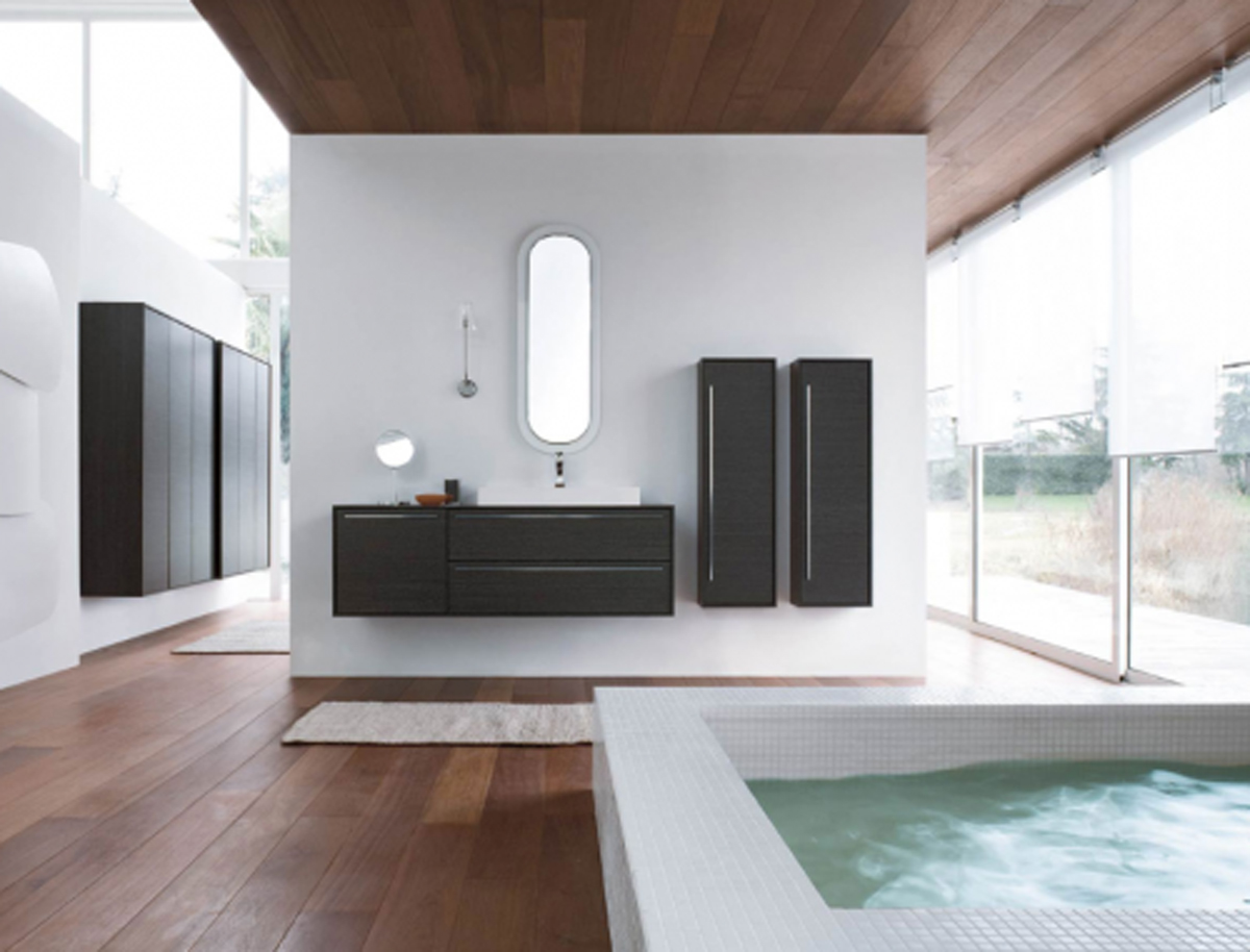 Classy Bathroom Furnishing Layouts