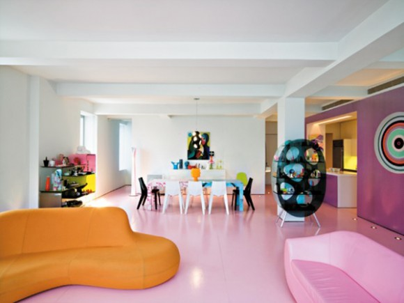 colorful Karim Rashid apartment designs