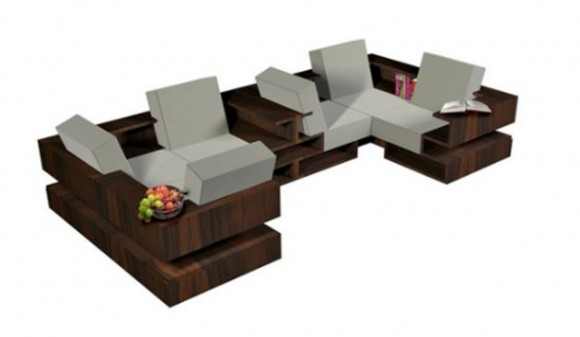 contemporary folding sofa layouts