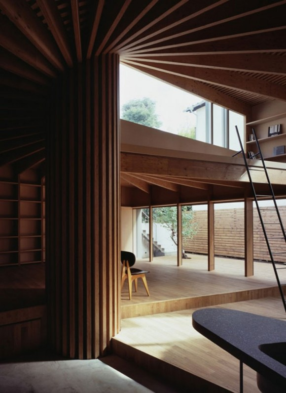 creative round tree house interior