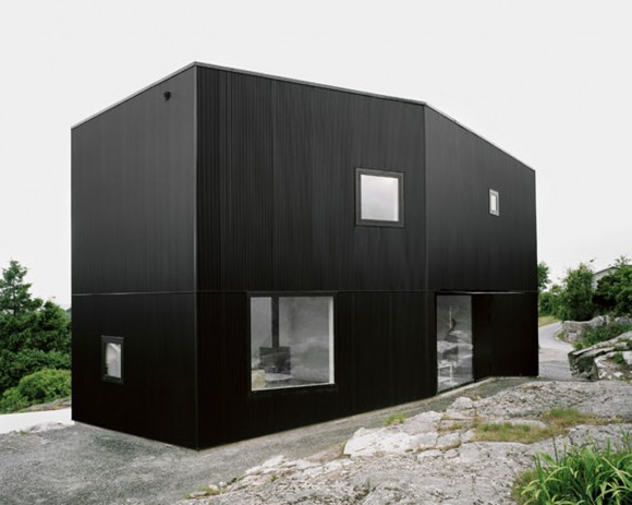 exclusive minimalist black residence