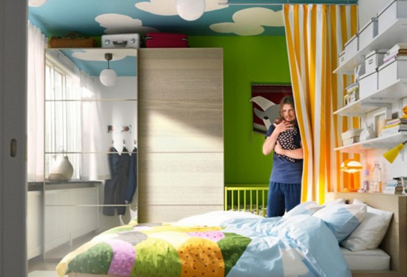 expressive colorful bedding decorations