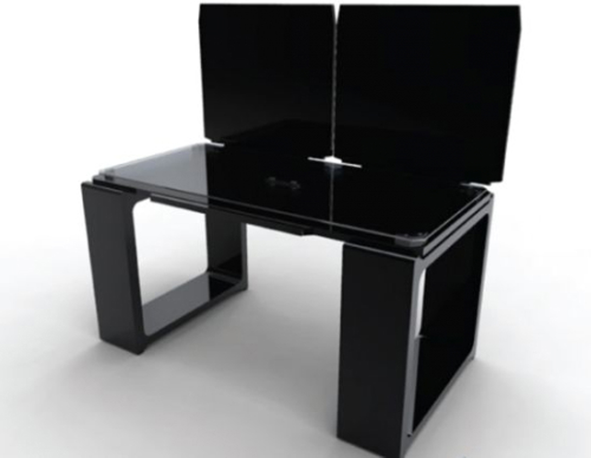modern futuristic black office furniture designs