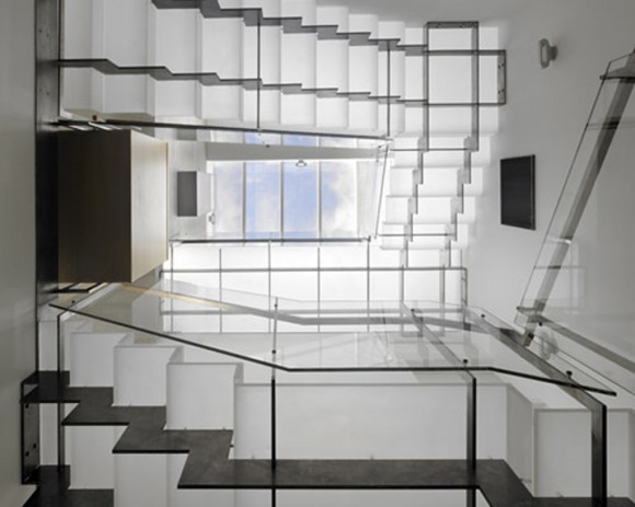 glossy cool glass staircase inspirations