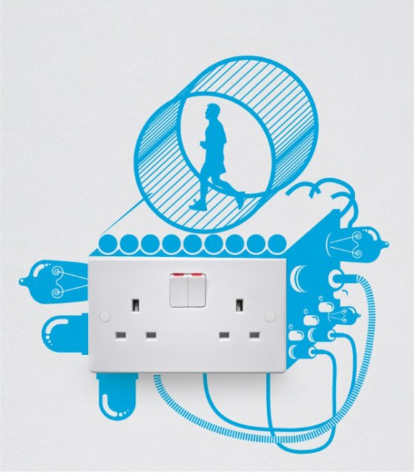 handsome wall decals for switch outlets
