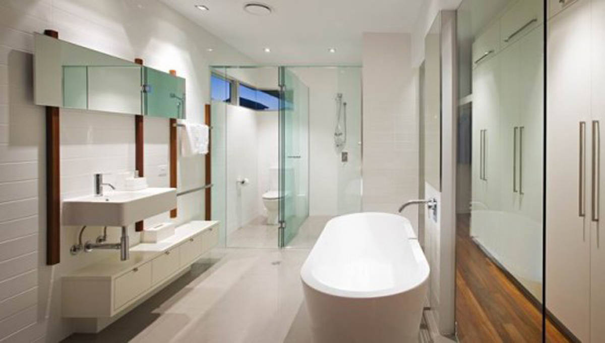 Huge bathroom furnishing landscape for Big bathroom designs