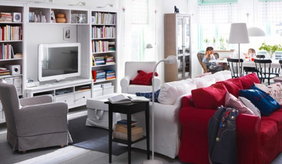 inspiring IKEA living room organizations