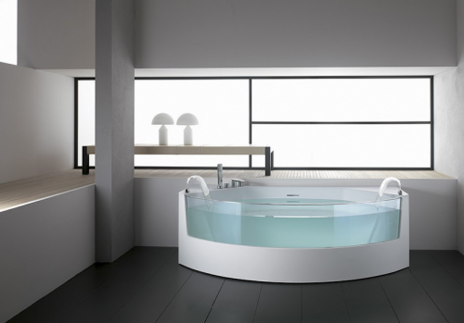 invisible round bathtub designs