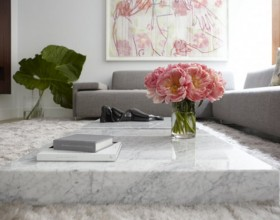 low marble living room table decor