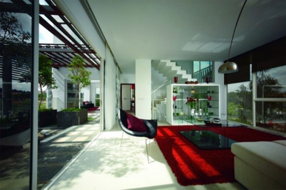 modern eco villa interior plans