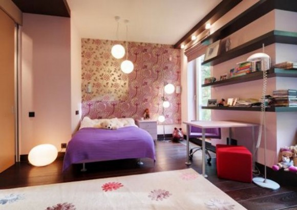 modern fashionable teen room designs