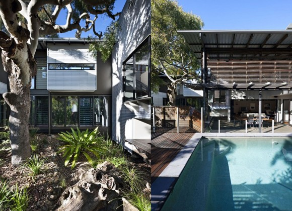 nature look outdoor pool and garden decor