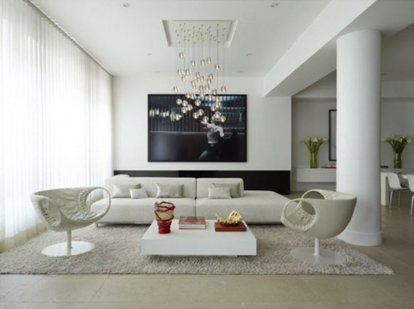 white low living room designs landscape