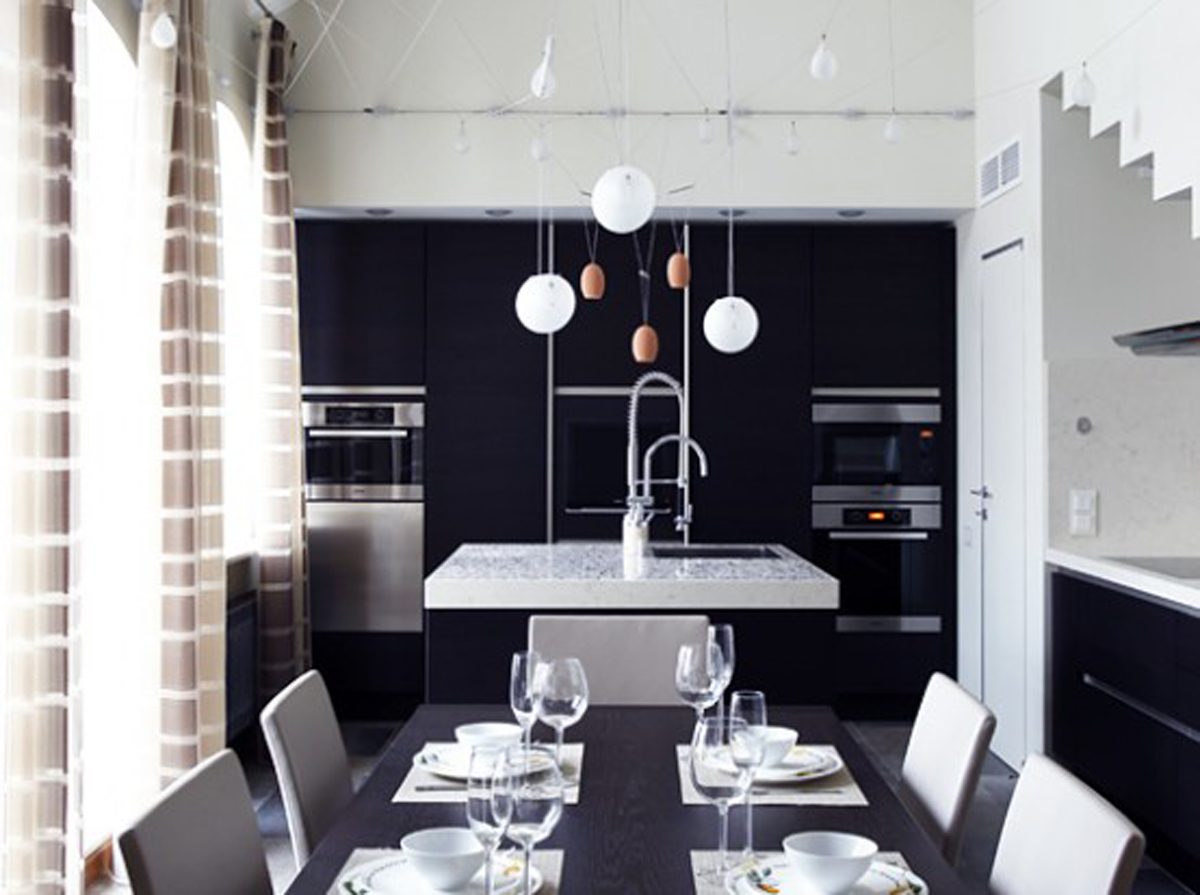 Black and white dining room decor for White dining room decor
