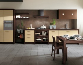brown contemporary kitchen inspirations