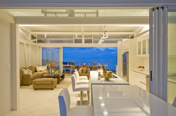 clean and clear beach house interior