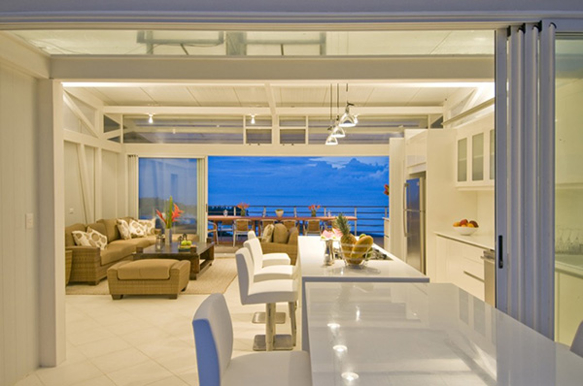 Clean and clear beach house interior Interior beach house designs
