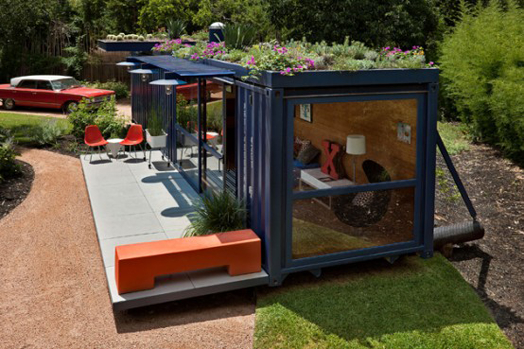 Eco friendly container guest house designs for Modern container home designs