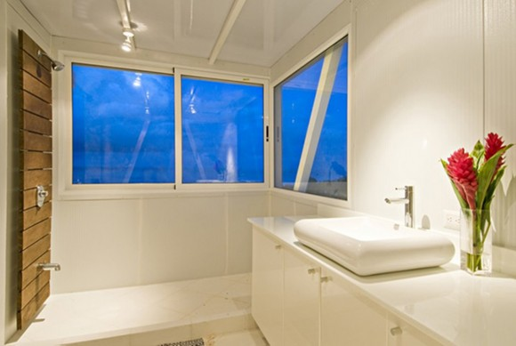 exciting white bathroom landscape