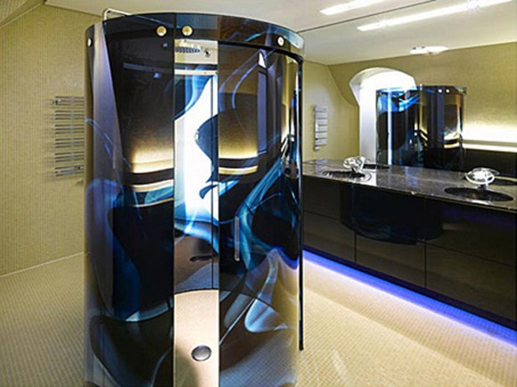 futuristic dark bathroom designs