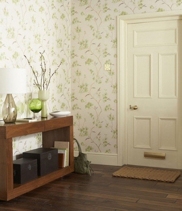 green retro wallpaper designs