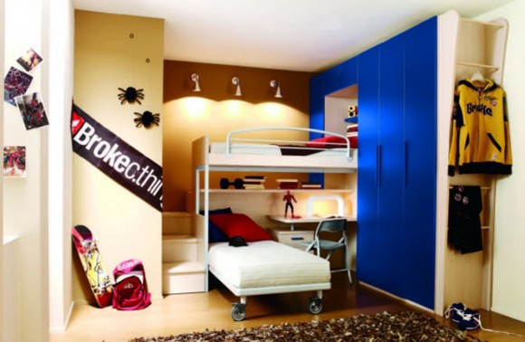 integrated bunk bed furniture plans