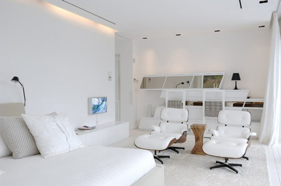 lavish pure white interior plans