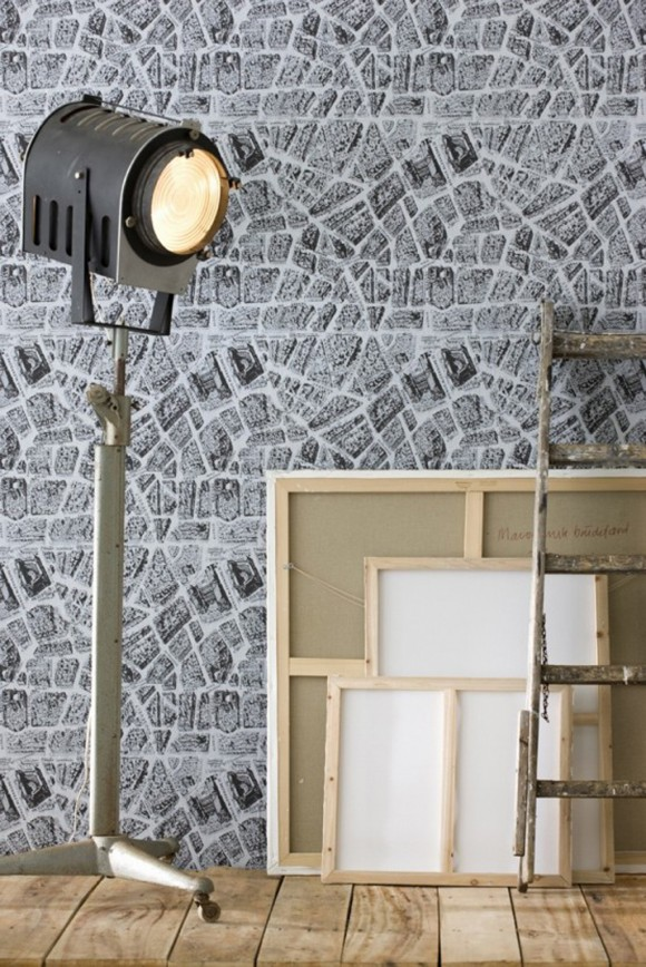 modern black and white wallpaper ideas