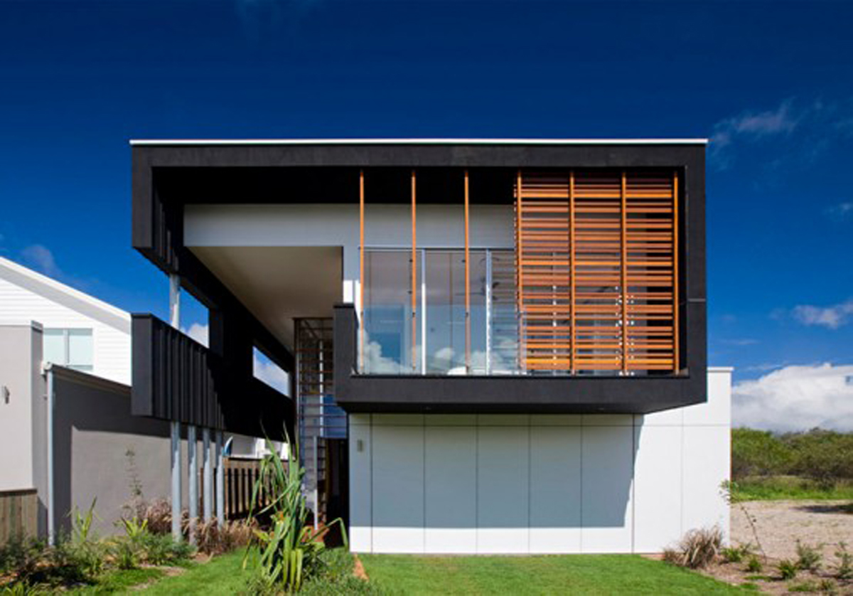 Modern black house designs inspirations for Modern beach house designs
