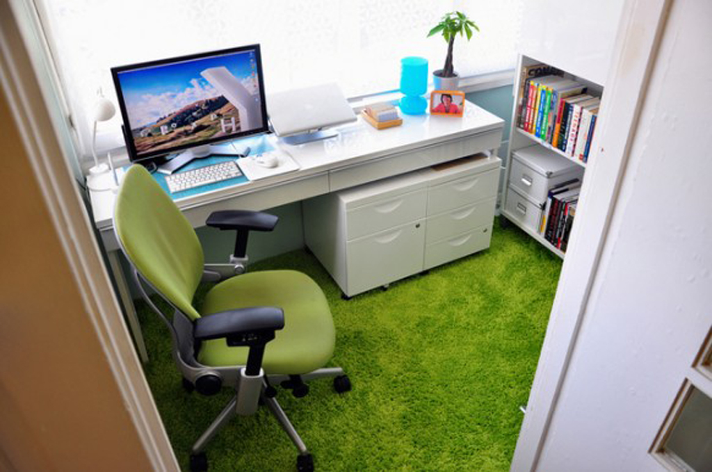 Modern green office space ideas for Modern office space ideas