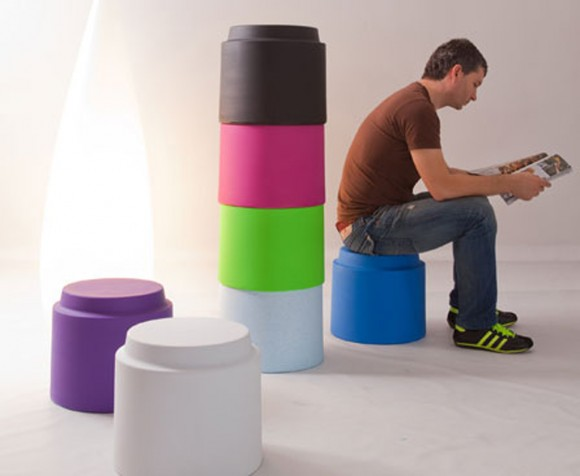 multicolored stools designs inspirations
