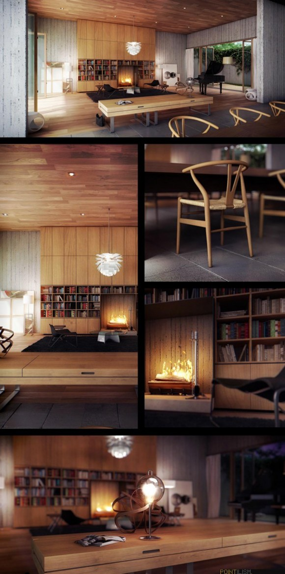 simple wooden living room furniture