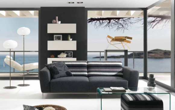 stylish black living room designs