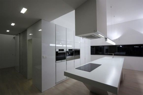 white lights kitchen space layouts