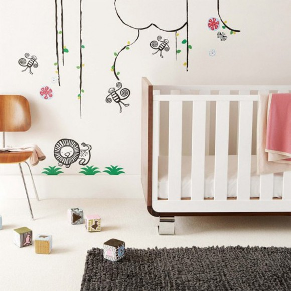 cartoon nursery wall stickers