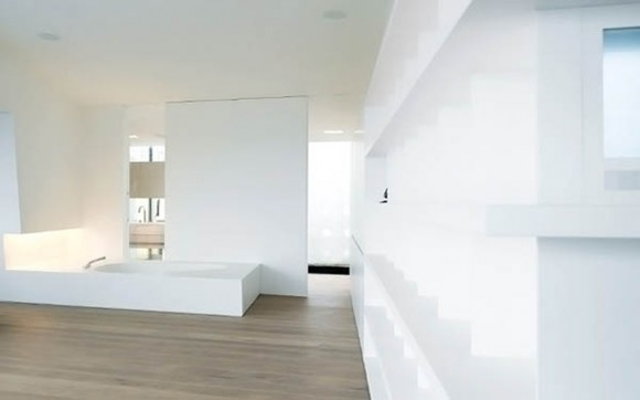 clear and clean white minimal home